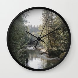 All the Drops form a River - landscape photography Wall Clock