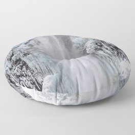 Cloaked in Ice Floor Pillow