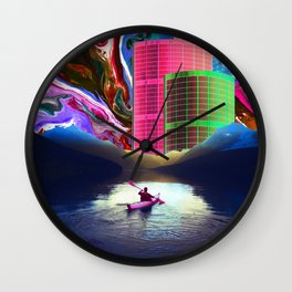 """""""Follow the Lights, They Lead to Something"""" Wall Clock"""