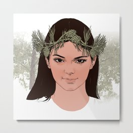 lady of the forest Metal Print