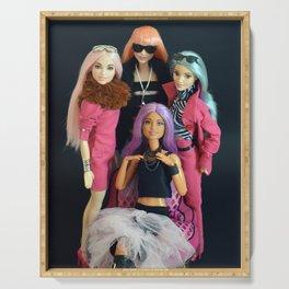 Posing Barbie dolls friend Serving Tray