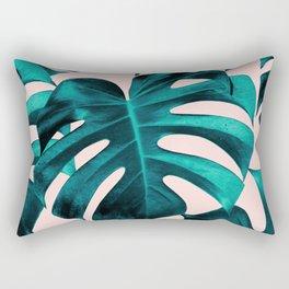 Tropical Monstera Leaves Dream #7 #tropical #decor #art #society6 Rectangular Pillow