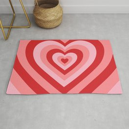70s psychedelic pink heart Rug