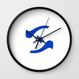 flag of israel 11-יִשְׂרָאֵל ,israeli,Herzl,Jerusalem,Hebrew,Judaism,jew,David,Salomon. Wall Clock