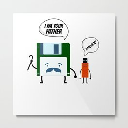 I Am Your Fathers Nooooo Floppy Disk USB Metal Print
