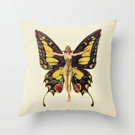The Flapper by F.X. Leyendecker - Life Magazine Cover Art Print Throw Pillow