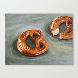 Pretzels in paint Canvas Print