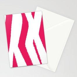 Berry Pink Zebra Stripes Stationery Cards