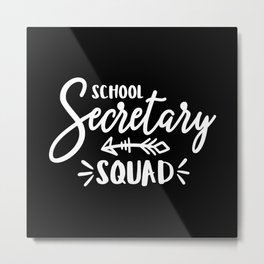 School secretary, office assistant Metal Print