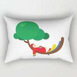 Lazy parrot Rectangular Pillow