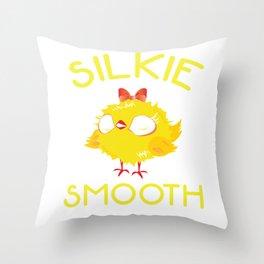 Silkie Chicken Silkie Smooth Cuddly Bird Throw Pillow