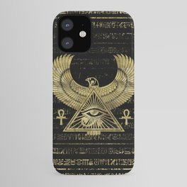 Egyptian Eye of Horus - Wadjet Gold and Black iPhone Case