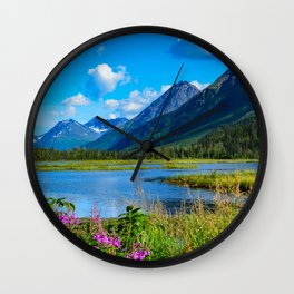 God's Country - II, Alaska Wall Clock