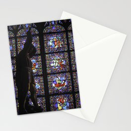 Statue - Notre Dame Cathedral. Paris, France - November 2011 Stationery Cards