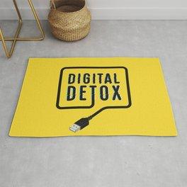 Digital detox yellow Rug