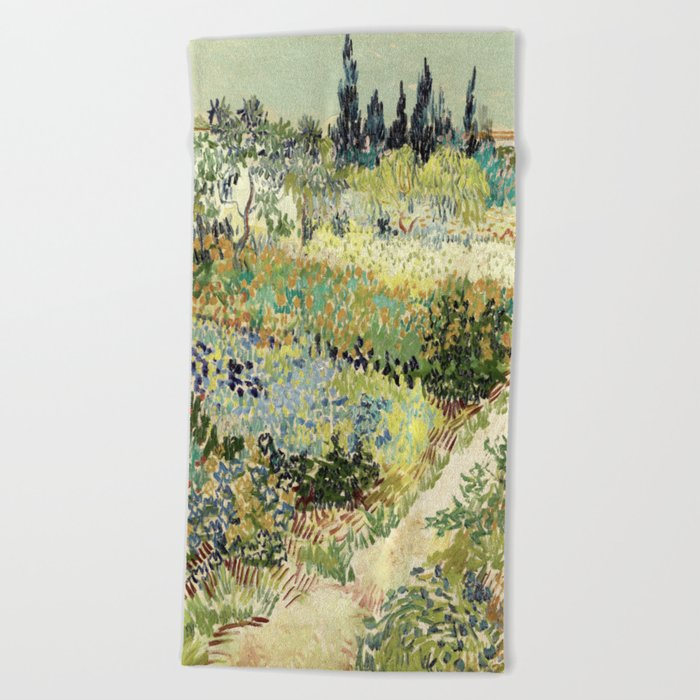 Vincent Van Gogh : Garden at Arles Beach Towel