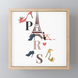 Paris city light Framed Mini Art Print