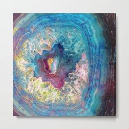 Abalone Geode Metal Print