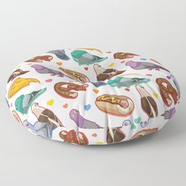 Pigeon Party Floor Pillow