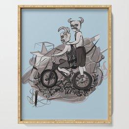 276. Dirt Bike Devils. Serving Tray