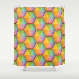 Rainbow Facets Shower Curtain