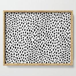 Dalmatian Spots (black/white) Serving Tray