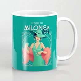 Mint Green and Burnt Coral Art Deco Flapper at a Speakeasy Milonga Coffee Mug