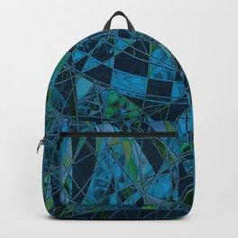 The Map- Blue Geometric  Backpack