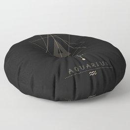 Aquarius Zodiac Constellation Floor Pillow