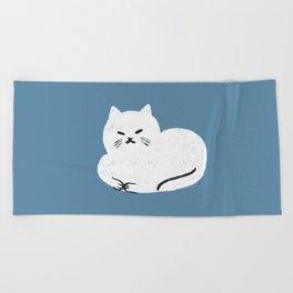 Comfy Cat WarmBlue Beach Towel