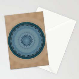 Pallid Blue Base Mandala Stationery Cards