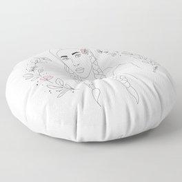 Blue-Eyed Girl Floor Pillow