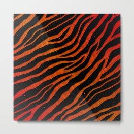 Ripped SpaceTime Stripes - Red/Orange Metal Print