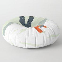 Snowboarding Floor Pillow