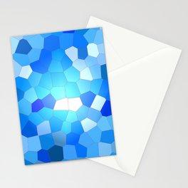 Blue Sky Mosaic Pattern Stationery Cards