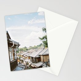 Kyoto old town | Travel fine art photography | Japan on film Stationery Cards