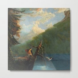 Old Man in the Mountain, White Mountains, New Hampshire landscape painting by Thomas Hill Metal Print