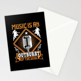 Music - Music Is An Outburst Of The Soul Stationery Cards