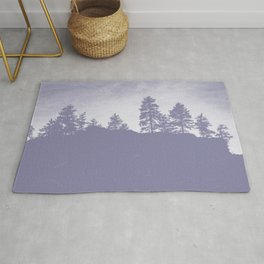 coastal trees phantom violet tone washed out effect aesthetic landscape art photography Rug