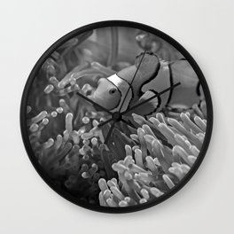Clown Fish (Black and White) Wall Clock