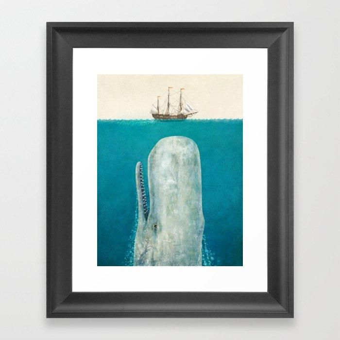 The Whale - option Gerahmter Kunstdruck