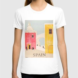 Spain Vintage Travel Poster Mid Century Minimalist Art T-Shirt