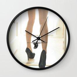 Black panties down Wall Clock