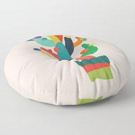 Whimsical Cactus Floor Pillow