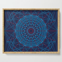 Geometric Circle Blue/Red Serving Tray