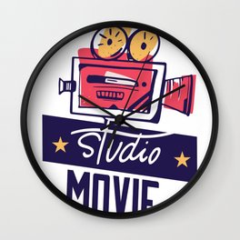 Studio Movie Camera Wall Clock