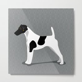 Roaring Smooth Fox Terrier by IxCO Metal Print