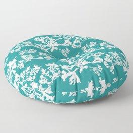 Turquoise Seaweed Pattern Floor Pillow