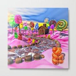 Pink Candyland Metal Print
