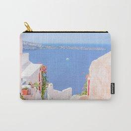Santorini Greece Mamma Mia Pink Street Carry-All Pouch